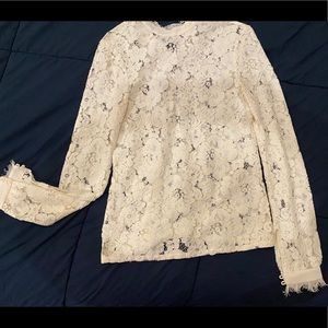 Ivory Lace Top with gorgeous detail